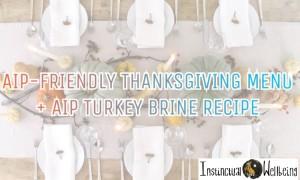 aip friendly thankgiving menu and turkey brine