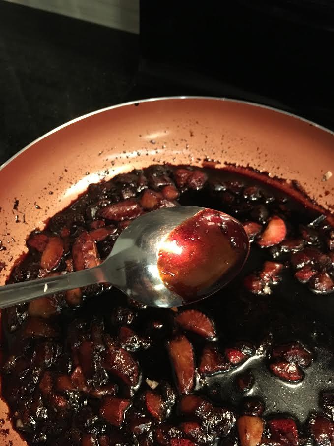 final strawberry sauce